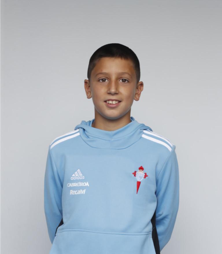 Imáxen de xogador Miguel Rodríguez (Alevín B) posando